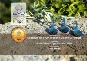 primo premio medaglia oro al concorso internazionale per il nostro Igp  Toscano Colline di Firenze